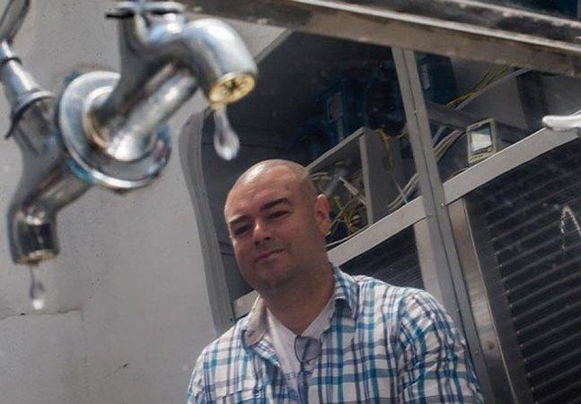 Engenheiro paulista cria máquina capaz de produzir água a partir do ar