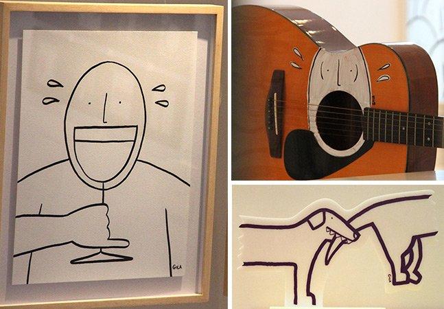 Ilustrador brasileiro exibe seus divertidos cartoons em exposição em SP
