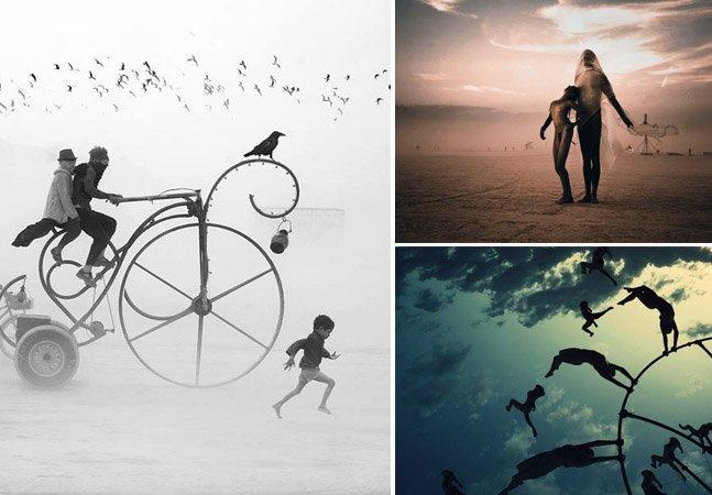 Fotógrafo registra imagens surreais da edição deste ano do Burning Man