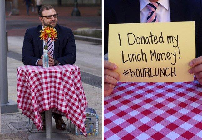 Homem passa um dia por semana sem almoçar para arrecadar refeições pra crianças com fome