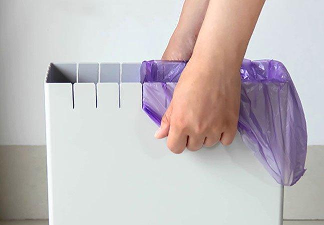 Como uma simples inovação resolve o problema de sacos de lixo que são menores que a lixeira