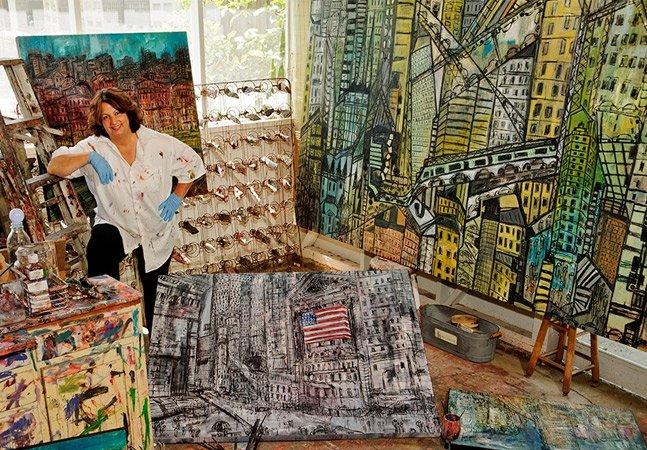 A história da ex-professora que hoje ganha a vida fazendo arte por apostar nos seus sonhos
