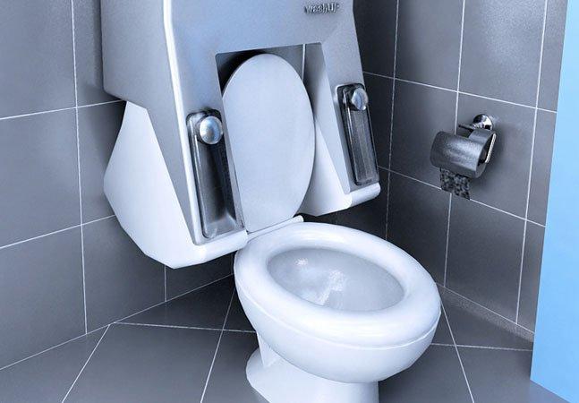 Máquina de lavar integrada ao vaso sanitário economiza água e espaço