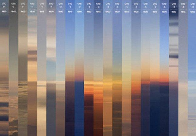 Fotógrafo captura 24 pores do sol ao redor do mundo em apenas um dia