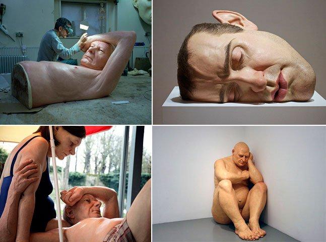Pinacoteca de SP recebe fantásticas esculturas hiperrealistas de Ron Mueck