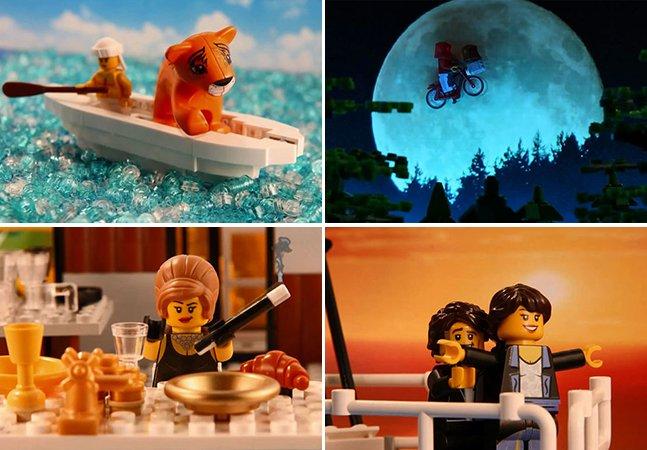 Garoto de 15 anos recria clássicos do cinema usando peças de LEGO em stop-motion incrível
