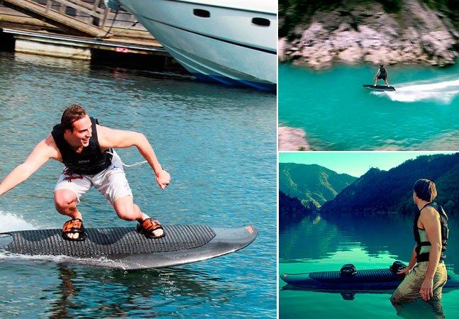 Empresa cria wakeboard elétrico que chega a 46 km/h
