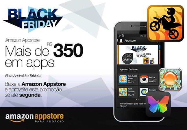 Amazon Appstore disponibiliza R$350 em aplicativos pagos de graça e estende a Black Friday por 5 dias