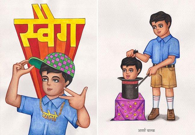 Designer indiano cria quadrinhos ácidos que dispensam palavras