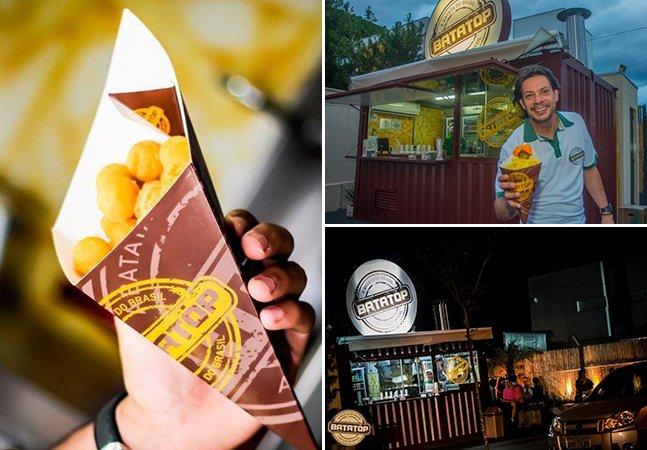 Empreendedor faz sucesso com loja de batata frita em container reutilizado