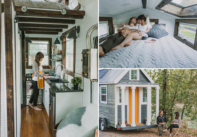 """Empresa cria mini casas estilosas sobre rodas para quem quer viajar sem sair """"de casa"""""""