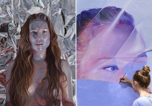 Artista cria ilustrações hiper-realistas de mulheres que parecem ter vida