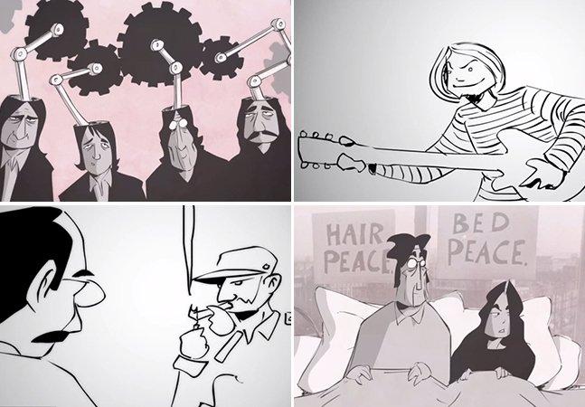 Projeto transforma entrevistas inéditas de personalidades famosas em vídeos animados