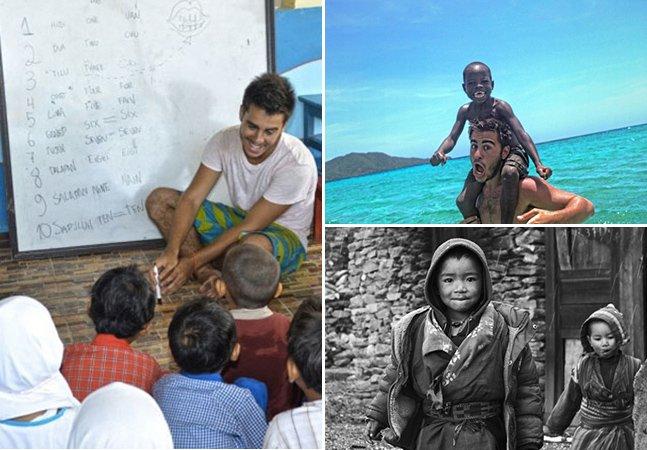 Jovem brasileiro viaja pelo mundo conversando e fotografando crianças em busca da própria juventude