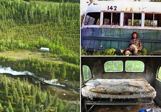 """O ônibus verdadeiro do filme """"Na Natureza Selvagem"""" ainda se encontra no mesmo local e virou atração turística"""