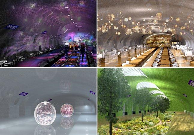 Projeto transforma antigas estações de metrô de Paris em baladas, jardins e centros esportivos