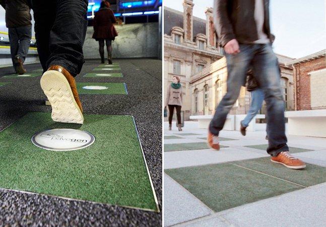 Piso em estação de metrô na França gera energia por meio de passos