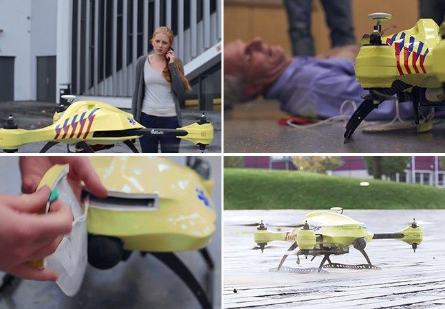 Estudante cria drone-ambulância que poderia aumentar as taxas de sobrevivência de acidentes em até 80%