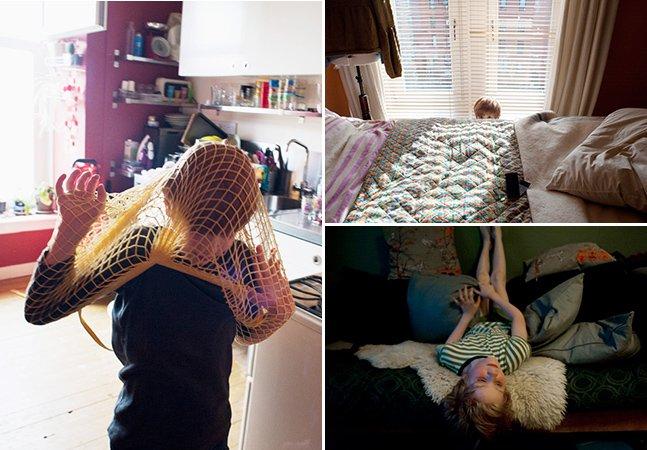 Série de fotos mostra como é viver com um filho autista