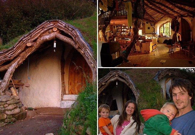 Com cerca de 16 mil reais, homem constrói casa sustentável no estilo Hobbit