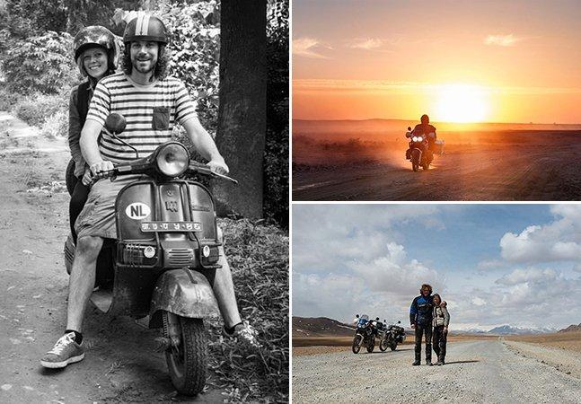 Casal larga vida estável e viaja de moto da Holanda até a Mongólia