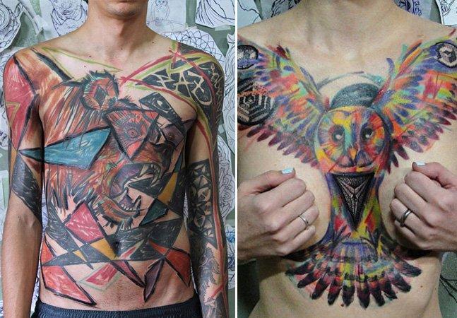 """Conheça o """"trash tattoo"""", estilo de tatuagem em que o brasileiro André Cruz é especialista"""