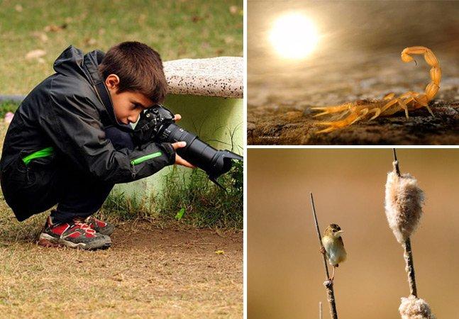 Garoto de 9 anos conquista prêmio de melhor jovem fotógrafo de vida selvagem