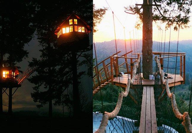 Para fugir do stress da cidade, americano constrói casa na árvore dos sonhos em meio a natureza