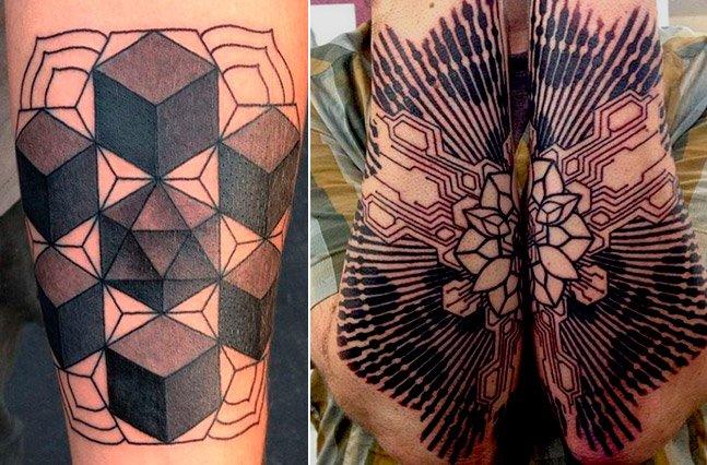 Tatuador cria arte na pele com impressionante precisão geométrica