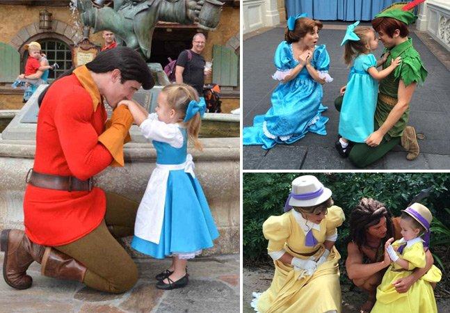 Mãe cria roupas de diferentes personagens da Disney para a filha usando peças de brechó