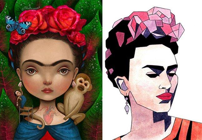 A homenagem de 22 diferentes artistas à pintora e ícone da arte Frida Kahlo
