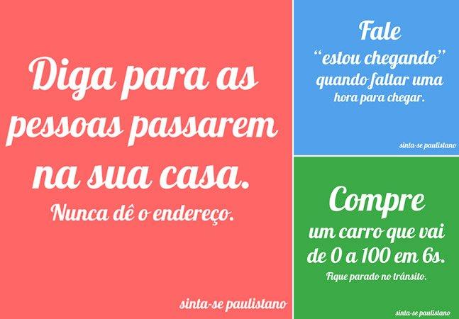 Projeto cria cartazes divertidos  que só os paulistanos entenderão