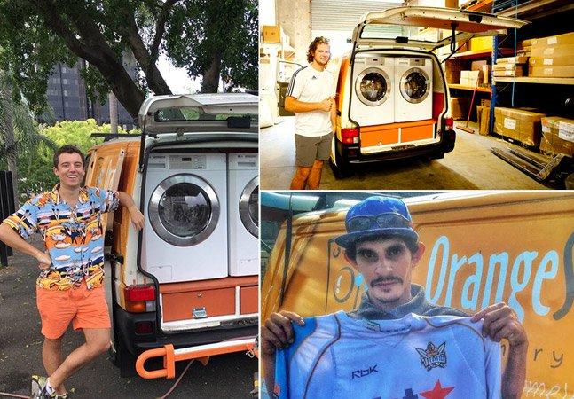 Amigos transformam van em uma lavanderia móvel para ajudar moradores de rua