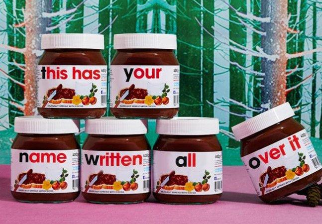 Agora você já pode ter seu nome gravado em uma embalagem de Nutella