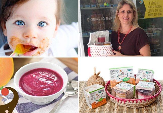 Empreendedora cria marca milionária de papinhas orgânicas para crianças