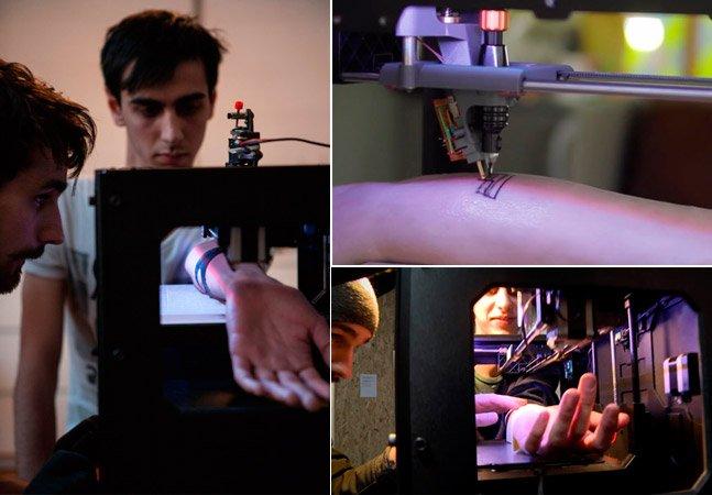 Seria o fim dos tatuadores? Conheça a impressora 3D que faz tatuagens