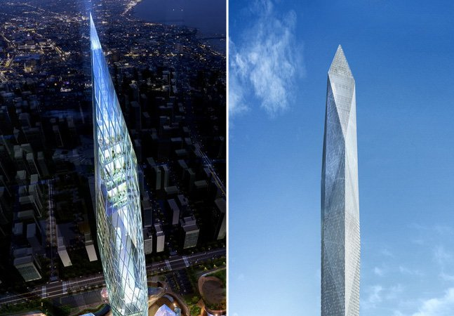 """Como a Coreia do Sul está construindo a primeira torre """"invisível"""" do mundo"""