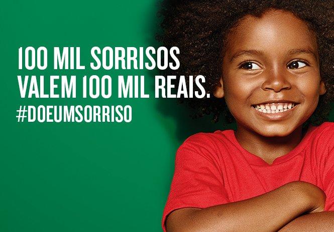 Campanha soma um real para crianças carentes cada vez que uma foto com sorriso é postada nas redes sociais