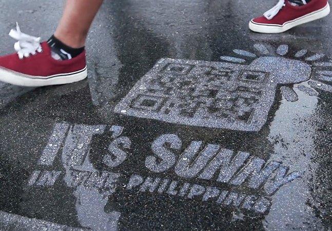 Companhia aérea filipina lança propaganda que só aparece quando chove