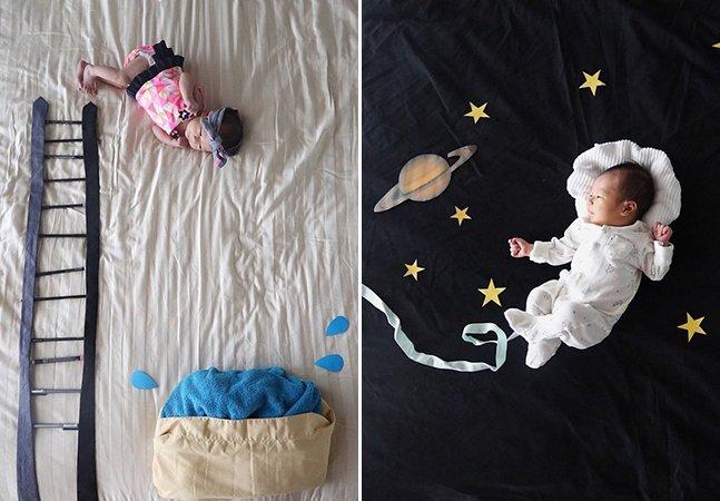 Mãe coloca seu bebê em altas aventuras e faz sucesso no Instagram