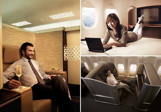 Como é viajar na classe executiva das principais cias aéreas do mundo