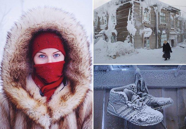 Fotógrafo capta imagens incríveis do vilarejo mais frio do planeta
