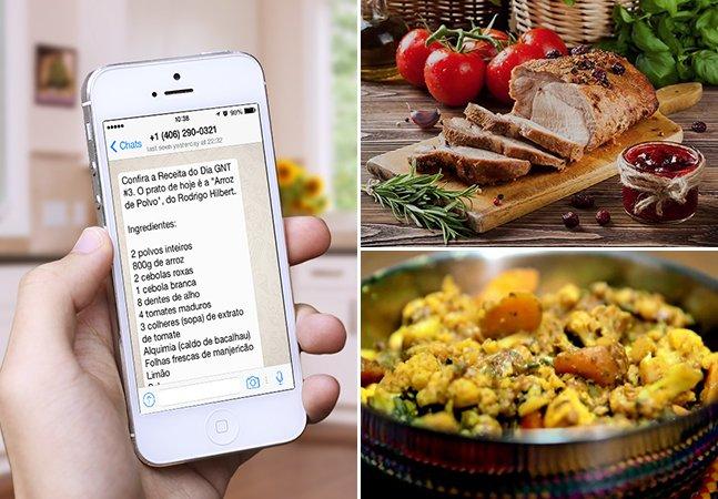 Canal inova e usa WhatsApp para enviar receitas de cozinheiros renomados para as pessoas