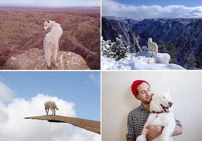 Ele levou seu cão para viajar por lugares fantásticos e o resultado são essas fotos adoráveis