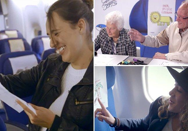 Empresa aérea surpreende passageiros com cartas de boa viagem escritas por amigos e familiares