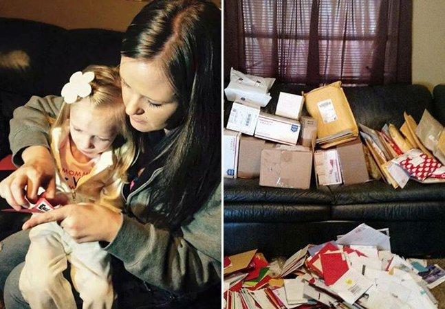 A menina com uma doença rara que está recebendo milhares de cartões pra comemorar o que pode ser o seu último Natal