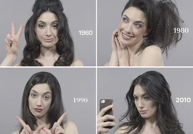 Vídeo mostra como os padrões de beleza mudaram em 100 anos
