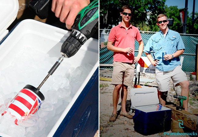 Gadget movido a pilhas gela bebidas em apenas 60 segundos