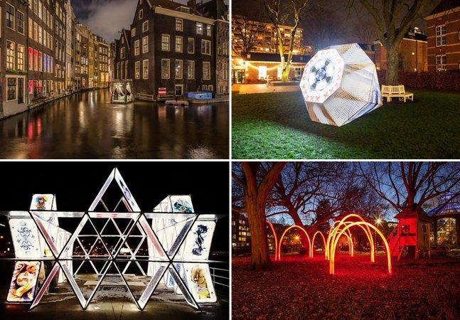 Festival de luzes deixa Amsterdã ainda mais encantadora