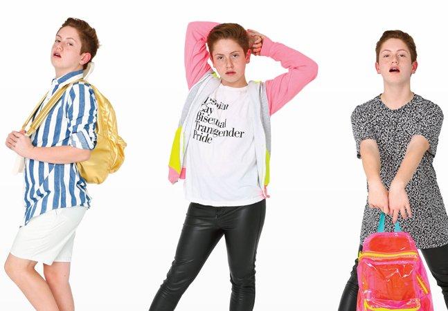 Garoto homossexual de 15 anos vira sucesso na internet e fecha contrato com grande marca de roupas